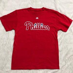 "Phillies ""Halliday 34"" Baseball T shirt- size L"